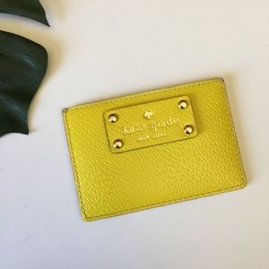 Kate Spade Yellow Leather ID Credit Card Holder